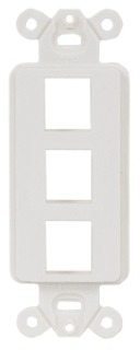 ISF3W HUBBELL PLATE, INFINE STYLELINE FRAME,3PORT,WH
