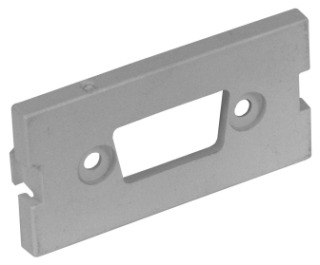 IMBDS1GY HUBBELL ISTATION MODULE, D-SUB,UNLD,1U,10PK,GY