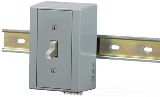 DRUB1221AC HUBBELL DIN-R UTL BOX, SP TOG,20A 120/277V AC,GY 78358510825
