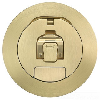 S1R4CVRBRS HUBBELL S1R 4, COVER, BRASS PLATED 78358544601