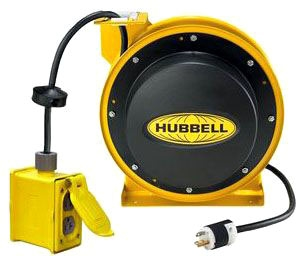 HBL45123R20 HUBBELL CORD REEL W/BOX & 5352GRY 45 12/3 78358545128