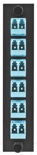 FSPLCDM6AQ HUBBELL FIBER, ADAPT PNL,12FIB,6LC,DUPLX,P-BZ,AQ