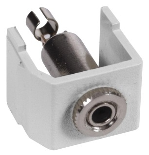 SF35SJW HUBBELL SNAP-FIT, KEYSTONE,3.5MM STEREO,SDR,WH