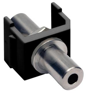 SF35FFBK HUBBELL SNAP-FIT, KEYSTONE,3.5MM STEREO,F/F,BK