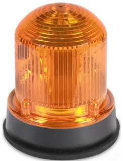 125LEDSA120A EDWARDS 125 STD LED, STEADY-ON, AMBER, 120V AC, GRAY BASE 78264005043