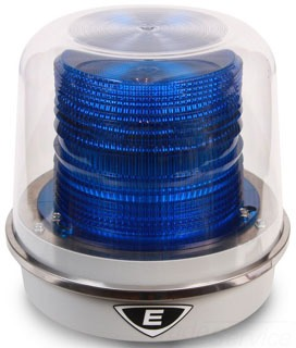 94PLEDMB120A EDWARDS 94 POLARIS BLUE LED BEACON 120VAC, GRAY BASE