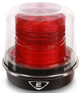 94PLEDMR120A EDWARDS 94 POLARIS RED LED BEACON 120VAC, GRAY BASE