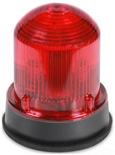 125LEDSR120A EDWARDS 125 STD LED, STEADY-ON, RED, 120V AC, GRAY BASE 78264005049