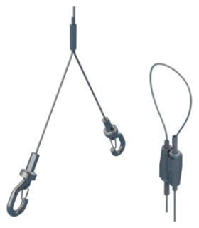 SLK2YH500L3 ERICO KEYLESS CADDY SPEED LINK WIRE SYSTEM WITH 500MM Y-HOOK, 2MM WIRE 9.9' LONG 10/BOX