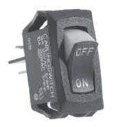 SS1201-BG SEL CURVED ROCKER SWITCH SPST MAINTND ON-OFF 16A@125VAC NON-LIGHTED NYL/PLY BLK/RED L1 (1)