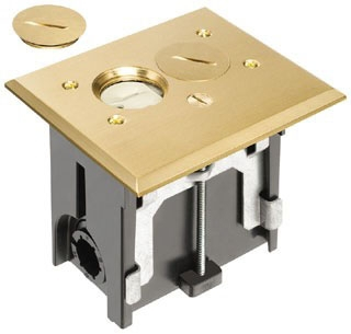 FLBA101MB ARL BRASS ADJ FLOOR BOX - 01899752259