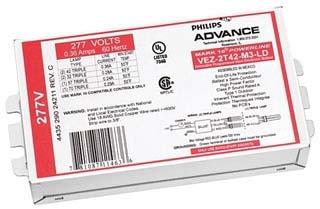 VEZ2Q26M2BS35M ADVANCE ELE DIM BALL (2) 26W CFL (4-PIN) 277V