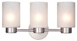 6227900 WESTINGHOUSE SYLVESTRE THREE-LIGHT INDOOR WALL FIXTURE