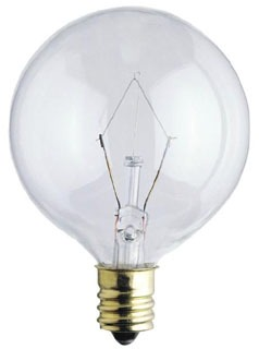 0361100 WESTINGHOUSE 25W RND CAND BASE CLEAR