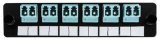 FAP6DMMQLC TYTON ADAPTER PANEL PRELOADED W/ 6 DUPLEX LC MM; AQUA
