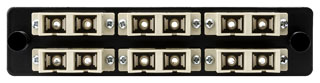 VFAP6DMMSC HT FT ADAPTER PANEL PRELOADED WITH 6 DUPLEX SC MM - BEIGE