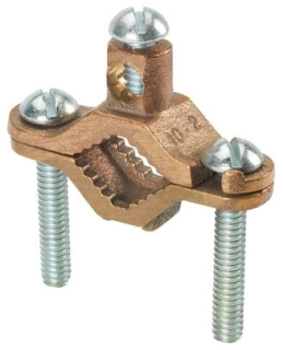 GPC2-2-L PAN BRONZE GROUND PIPE CLAMP WATER PIPE 1-1/4 - 2IN 50PK