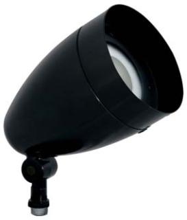 HBLED13B RAB LFLOOD 13W COOL LED BULLET W/ HOOD & LENS BLACK