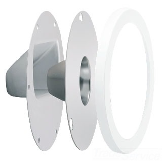 LRFGNLEDW RAB CLEAR LENS AND REFLECTOR KIT WITH DOOR FRAME GNLED WHITE