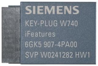 6GK59074PA00 SIEMENS KEY-PLUG W740 IFEATURES