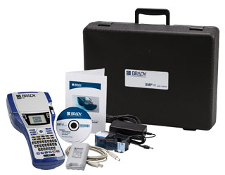 BMP41 BRADY PRINTER STANDARD PACKAGE BMP41 Printer (BMP41), Hard Case, BMP41 Rechargeable Battery Pack (BMP41-BATT), SAMPLE cartridge, USB Cable, AC Adapter (BMP41-AC), Product CD, Brady Printer Drivers CD and Quick Start Guide.