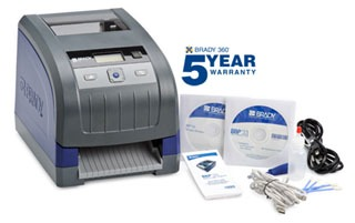 BBP33-C BRADY BBP-33 LABEL PRINTER WITH AUTO CUTTER Includes: Printer, power cord, USB cable, drivers CD, stylus, cleaning kit, cutter cleaning tool, quick start guide and documentation holder