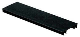 HC3BL6 PAN HINGED DUCT COVER PVC 3W BLACK