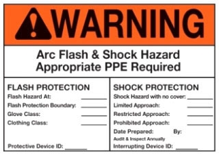 PVS0305W2101Y PAN WARNING ARC FLASH