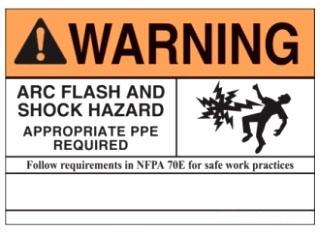 PVS0305W2102Y PAN VINYL ADHESIVE SIGN 5x3.5H 2009 NFPA