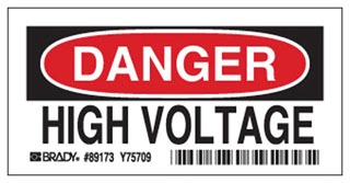 84875 BDY HIGH VOLTAGE SIGN
