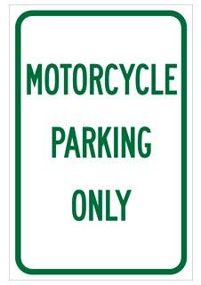 112623 BRADY SIGN,B959,12X18,GR/WT,MOTORCYCLE,1E A 75447314556