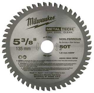 48-40-4075 MILWAUKE CIRC SAW BL 5-3/8 NON FERR