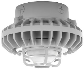 HAZXLED26F-DG RAB HAZLED 26W COOL LED CEILING FROSTED GLOBE DIE CAST GUARD GRAY 01981319672