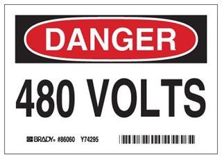 86060 BRADY 480 VOLTS (5/PK) 75447386060