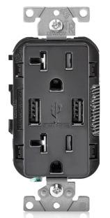 T5832-E LEVITON 20A TR RECPT USB CHRG