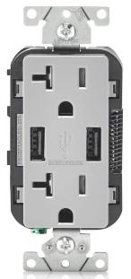 T5832-GY LEVITON 20A TR RECPT USB CHRG 07847768394
