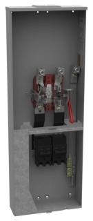 U5059-X-2/200-K3L MILB 320 AMP RINGLESS METER MAIN W/2 200A BREAKERS OH/UG (400A MAX) 1PH 3W