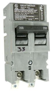 UQFP-M-200 MILB 200A 2P PLG-IN CB WITH SPLIT LOAD FEATURE