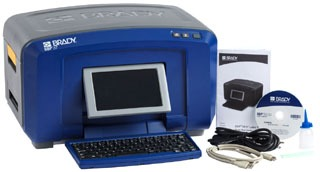 BBP37 BRADY COLOR AND CUT SIGN AND LABEL PRINTER, INCLUDES: BBP37 Printer, Cleaning Kit, Cutter Cleaning Tool, Power Cord, NetworkCard, Quick Start Guide, USB Cable