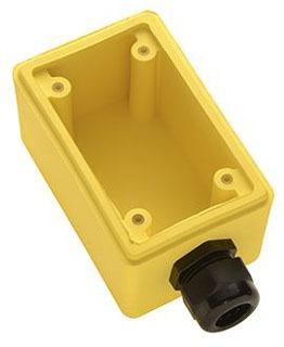 FD2-2 P&S YEL BACK BOX,DEEP,3/4IN DPLX REC 78500703544