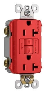 2097-RED P&S SELF-TEST GFCI RECEP 20A 125V 20A F RD 78500703595