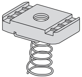 N7222ZN(#10-24) B-LINE N7222 (#10-24) ZN LOCK NU 78101140855 100/BOX