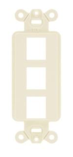 ISF3EI HUBBELL PLATE, DECORATOR FRAME,3PORT,EI