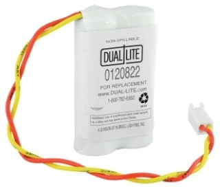 012-0822 DUAL LITE REPLACEMENT BATTERY PACK 2 CELL AA NICAD