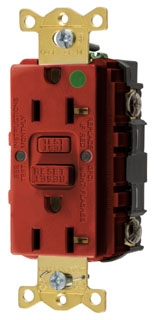 GFRST83R HUBBELL 20A COM HG SELF TEST GFR RED 78358548524