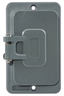 HBL3061 HUBBELL COVERPLATE, POB, GFCI OPNG, W/FLIP LIDS