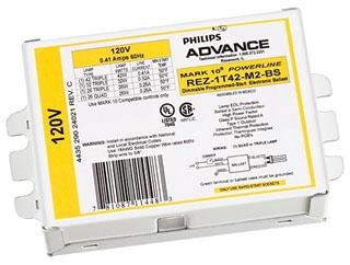 REZ2T42M3BS35M ADVANCE ELE DIM BALLAST (2) 42W CFL (4-PIN) 120V 78108711458