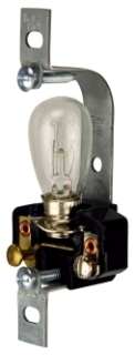153-BOX CWD PILOT LITE LAMPHOLDER W/ 6W CLR S6 LAMP- USE WITH LOUVER PLT