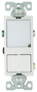7738W-BOX CWD SWITCH/NIGHTLIGHT COMBO 15A 120V, WH 03266472780