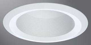 6125WB HAL 6IN FULL CONE WHITE BAFFLE, WHITE SELF-FLANGE RING